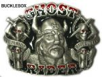Ghost Rider Viking Belt Buckle with display stand. Code AJ6